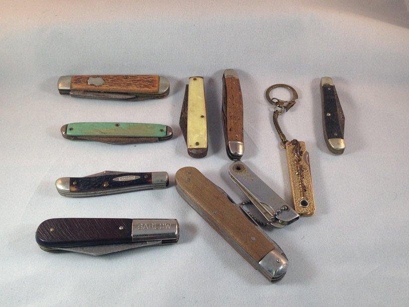 Lot (10) Vintage Pocket Knives.