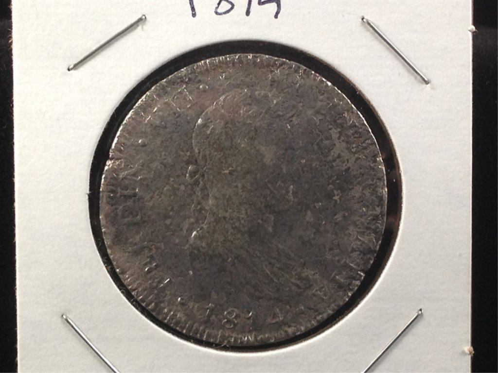1814 8 Reales Silver Coin of Ferdinand VII.