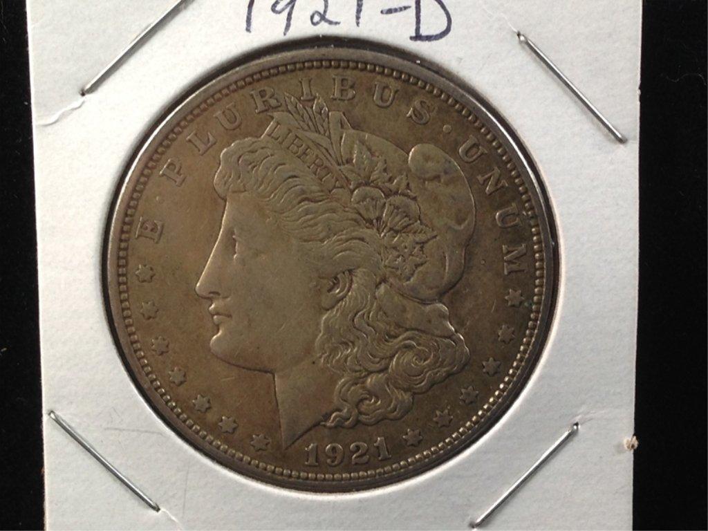 1921-D Morgan Dollar, 90% Silver Coin.