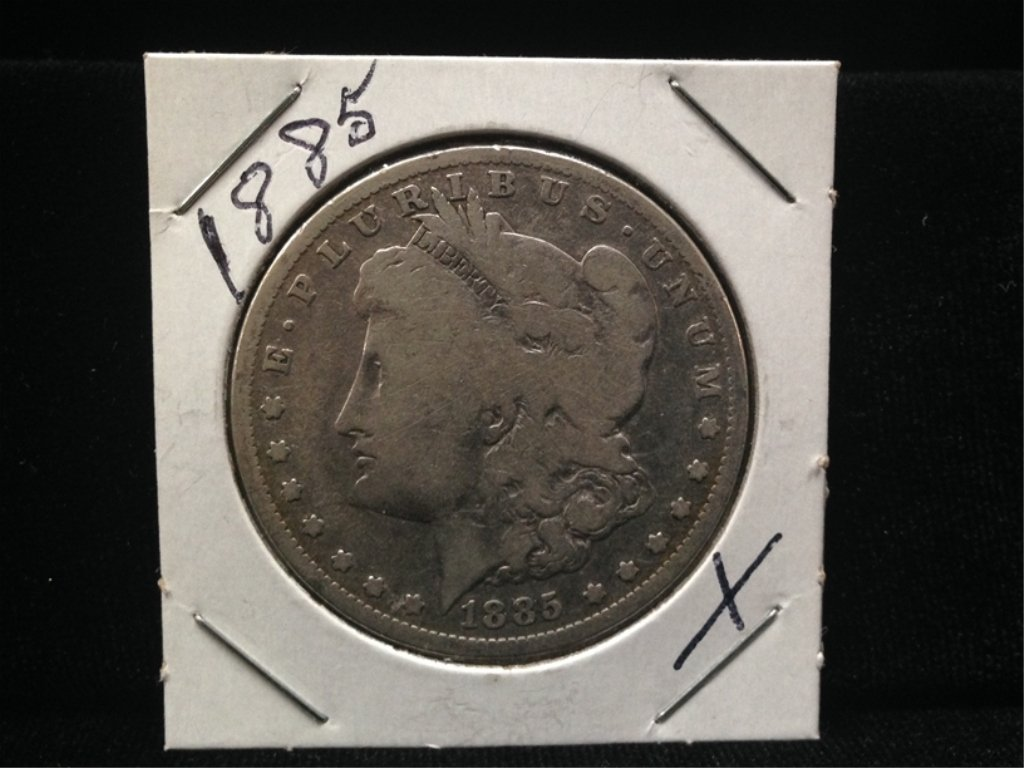 1885 Morgan Silver Dollar 90% Silver Coin.