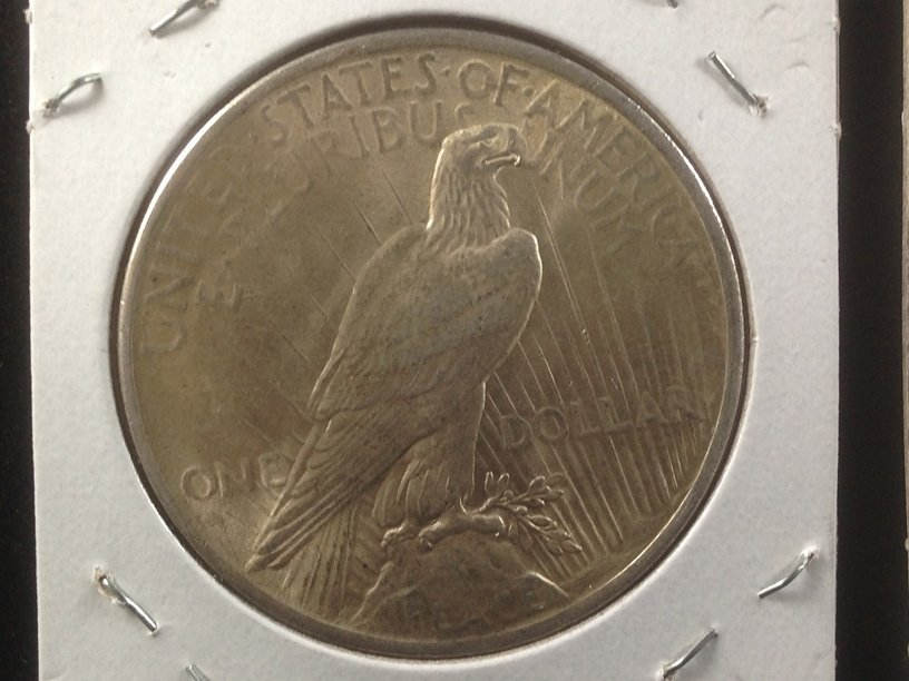Lot of (2) 1923 Peace Silver Dollars - 3