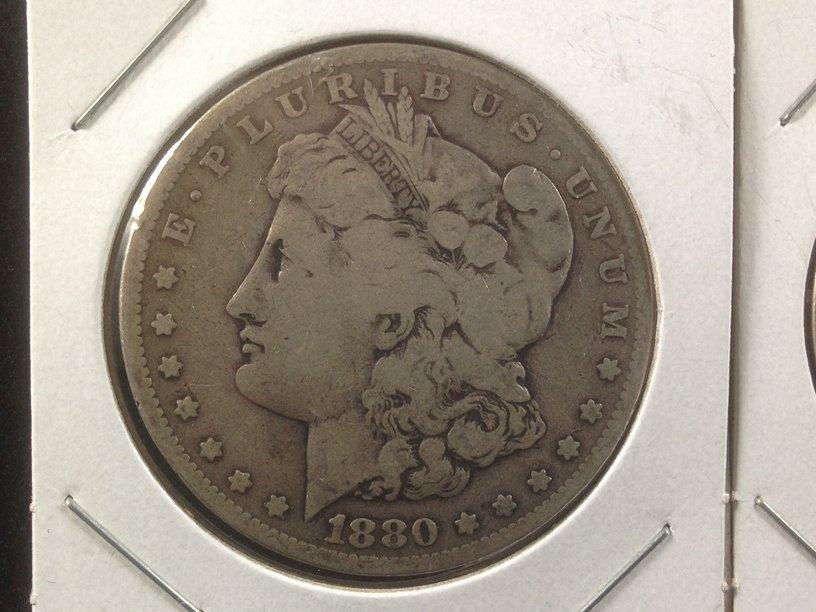 Lot of (2) Morgan Silver Dollars 1880 O & 1890 - 2