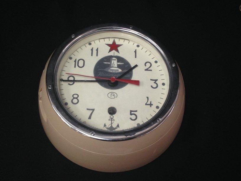 Russian Submarine Clock w/Key - 2