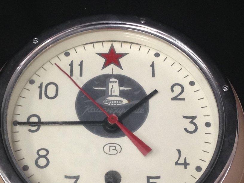 Russian Submarine Clock w/Key - 3