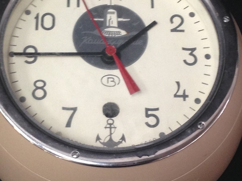 Russian Submarine Clock w/Key - 4