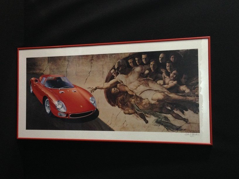 "Signed & Numbered ""Creation of Ferrari"" Print."