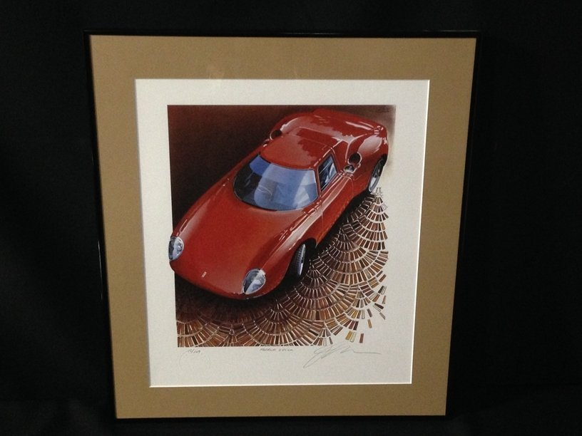 Framed Jay Koka Signed Ferrari Print #12 of 149.