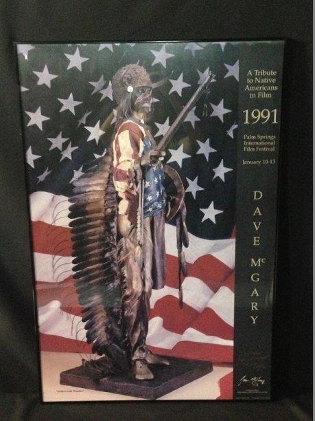 RARE Inscribed 1988 Dave McGary Poster.
