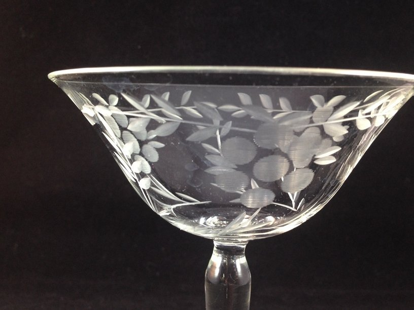 (24) Gorgeous Etched Crystal Stemware. - 8
