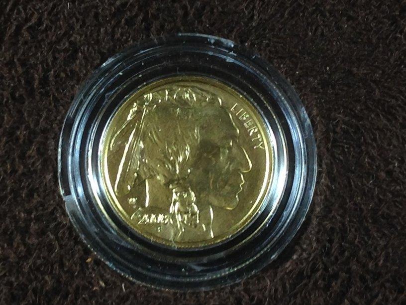 2008 American Buffalo 1/10th ounce $5 Gold Coin - 2