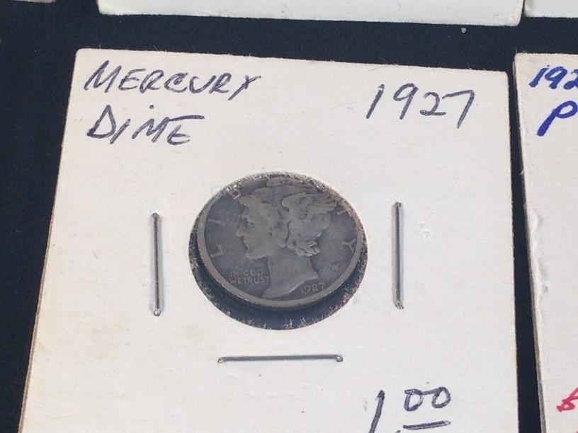 Lot of (7) Mercury Dimes - 6