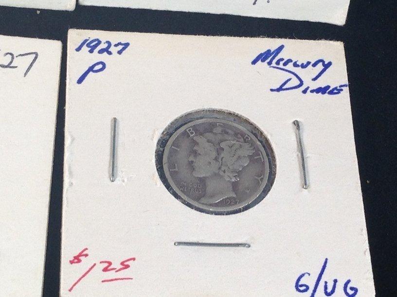 Lot of (7) Mercury Dimes - 7