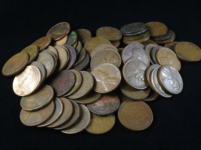 Lot (11) Buffalo Nickels & (80) Wheat Cents. - 2
