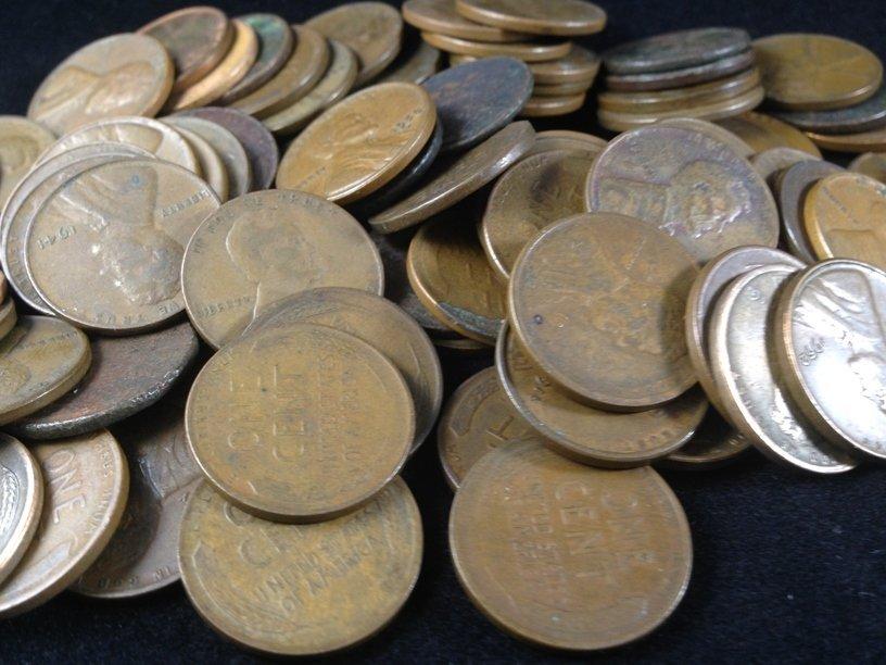 Lot (11) Buffalo Nickels & (80) Wheat Cents. - 3