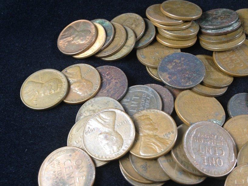 Lot (11) Buffalo Nickels & (80) Wheat Cents. - 4