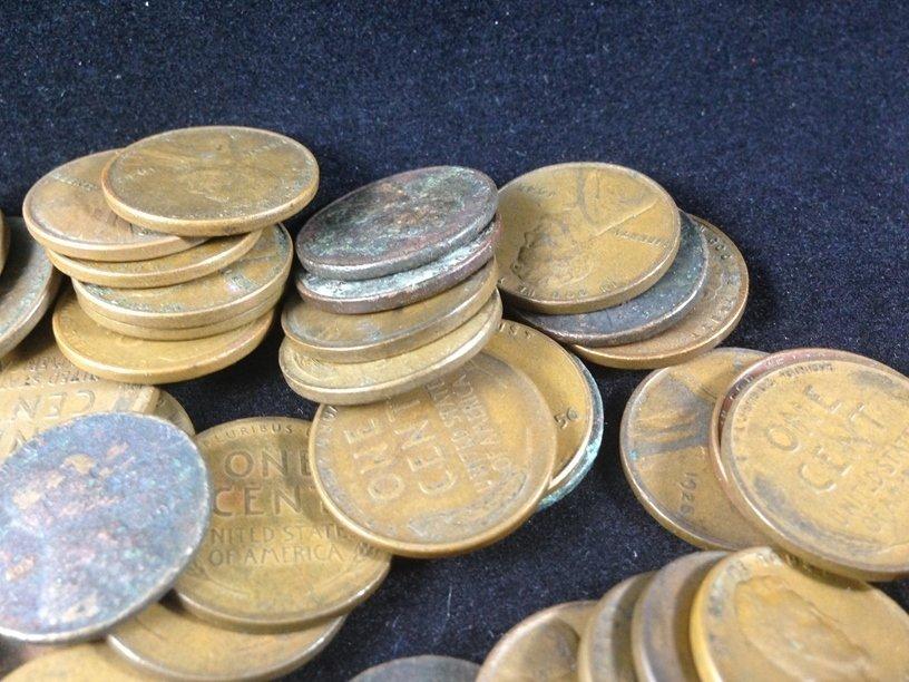 Lot (11) Buffalo Nickels & (80) Wheat Cents. - 5