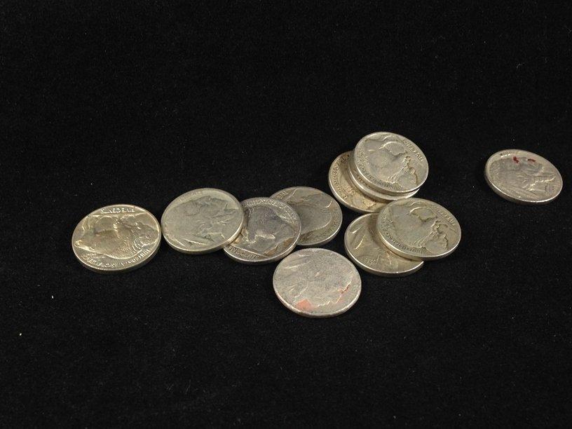 Lot (11) Buffalo Nickels & (80) Wheat Cents. - 6