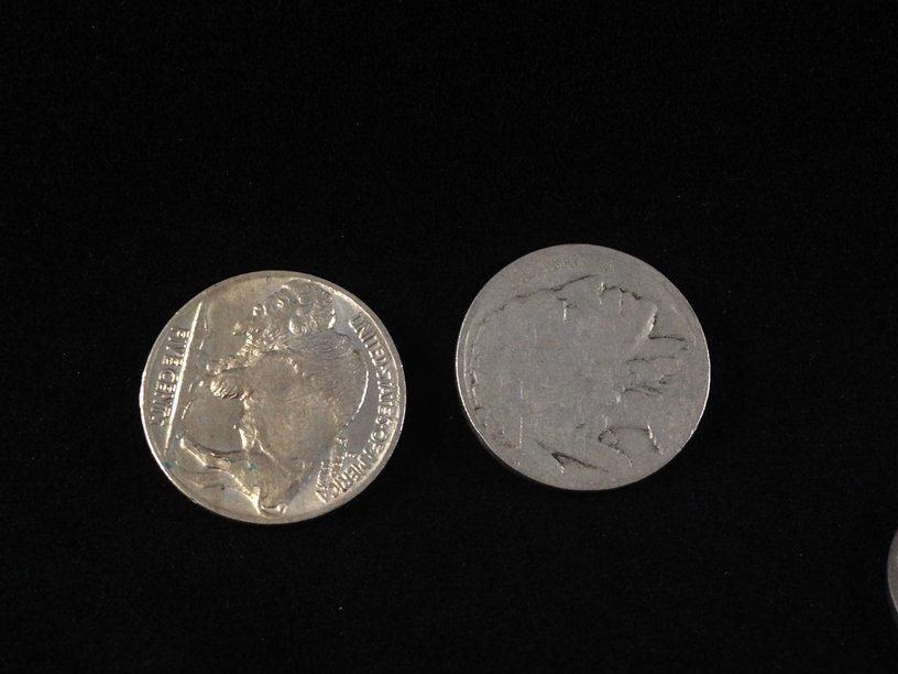 Lot (11) Buffalo Nickels & (80) Wheat Cents. - 7