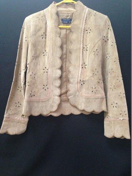 Vintage Ladies Boston Proper Suede Jacket. Sz 4.