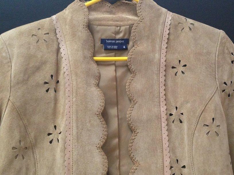 Vintage Ladies Boston Proper Suede Jacket. Sz 4. - 4