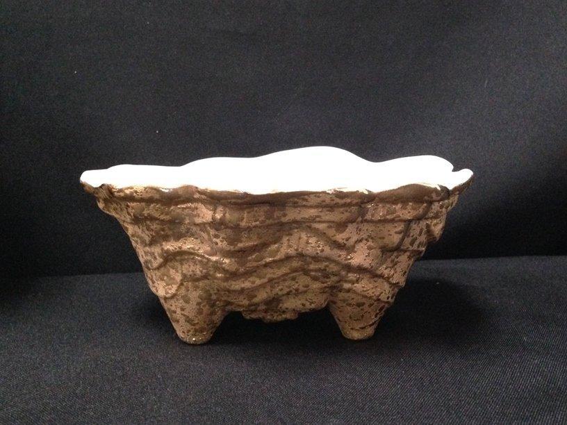 (5) 22K Gold on Pottery/Glass Decor Items. - 2
