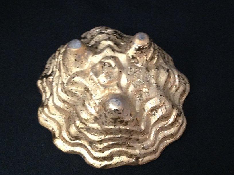 (5) 22K Gold on Pottery/Glass Decor Items. - 5