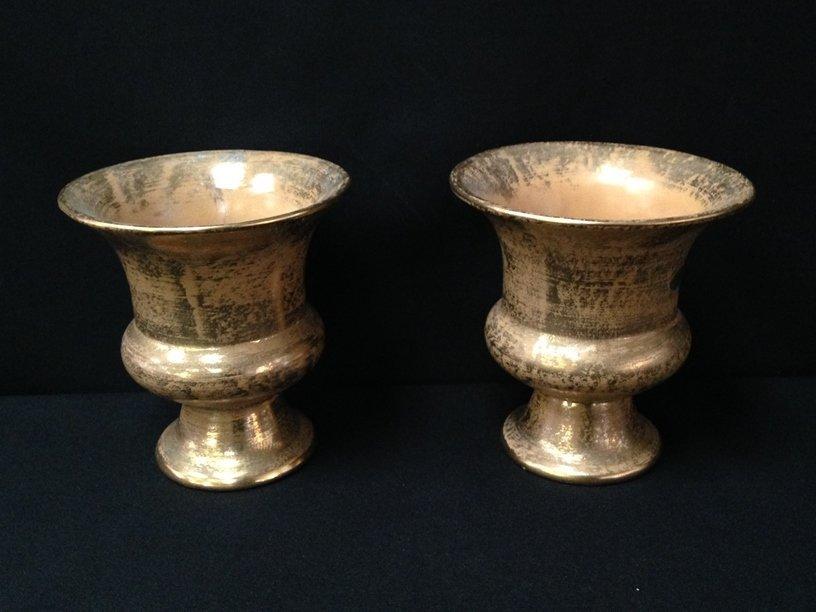 (5) 22K Gold on Pottery/Glass Decor Items. - 6