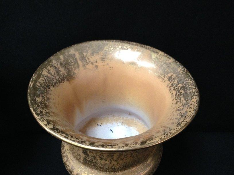 (5) 22K Gold on Pottery/Glass Decor Items. - 8