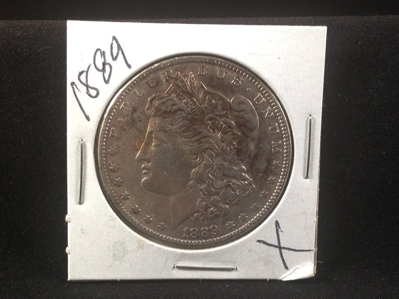 1889 Morgan Silver Dollar.
