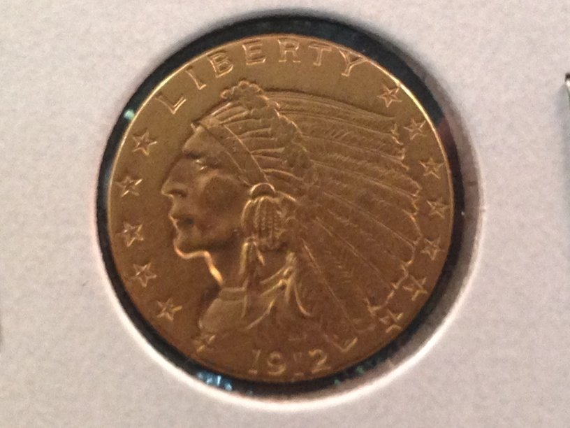 1912 $2.50 Indian Head Gold Coin NICE!!!
