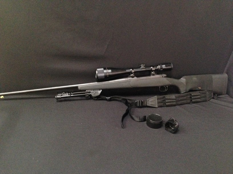 Winchester Model 70 300 Win Mag Rifle & Bushnell