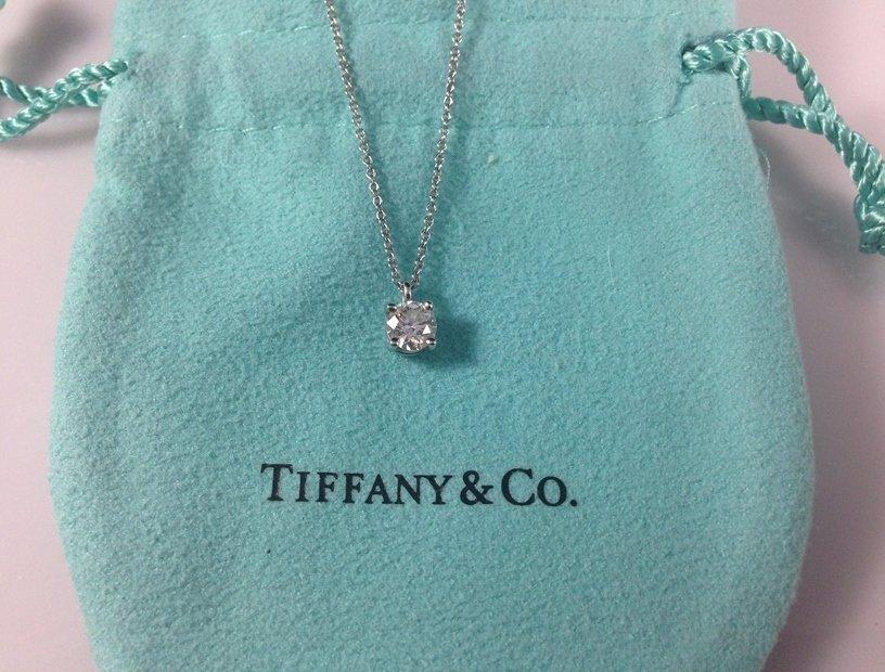 TIFFANY & CO. Solitaire .50ctw Diamond Platinum