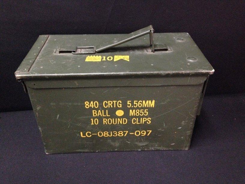 U.S. Military Green Ammo Box.