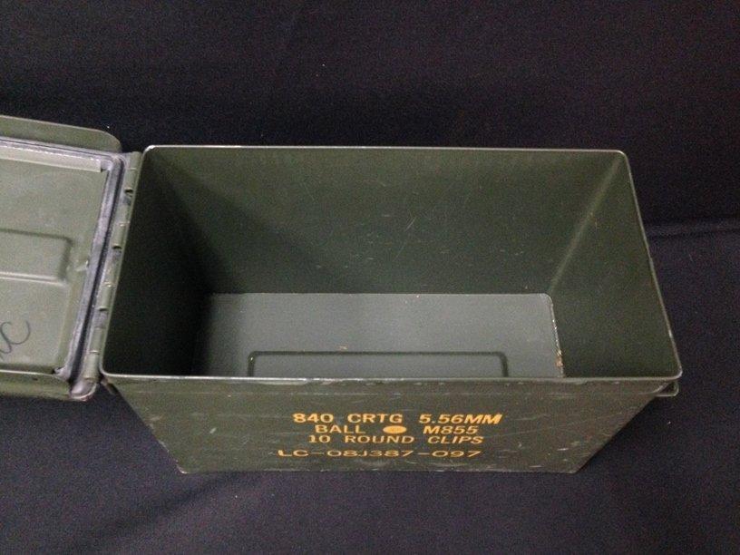 U.S. Military Green Ammo Box. - 2