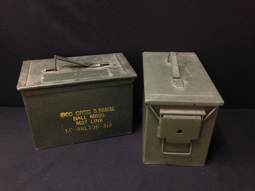 Lot (2) Large Military Ammo Boxes.