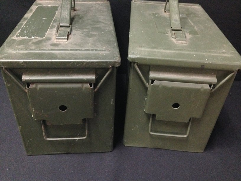 Lot (2) Large Military Ammo Boxes. - 3