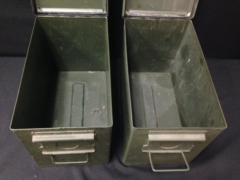 Lot (2) Large Military Ammo Boxes. - 4