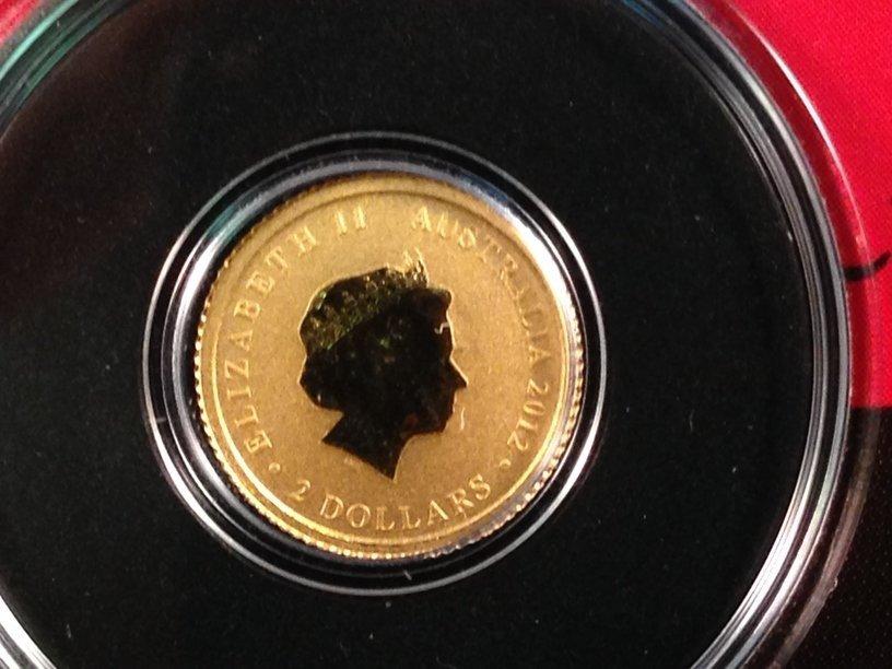 2012 Australian Kangaroo 1/2 Gram Gold Coin - 4