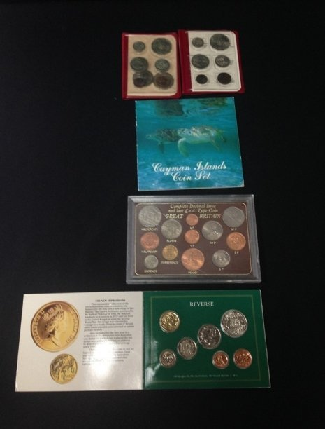 Lot (5) British Coin Sets...See Description.