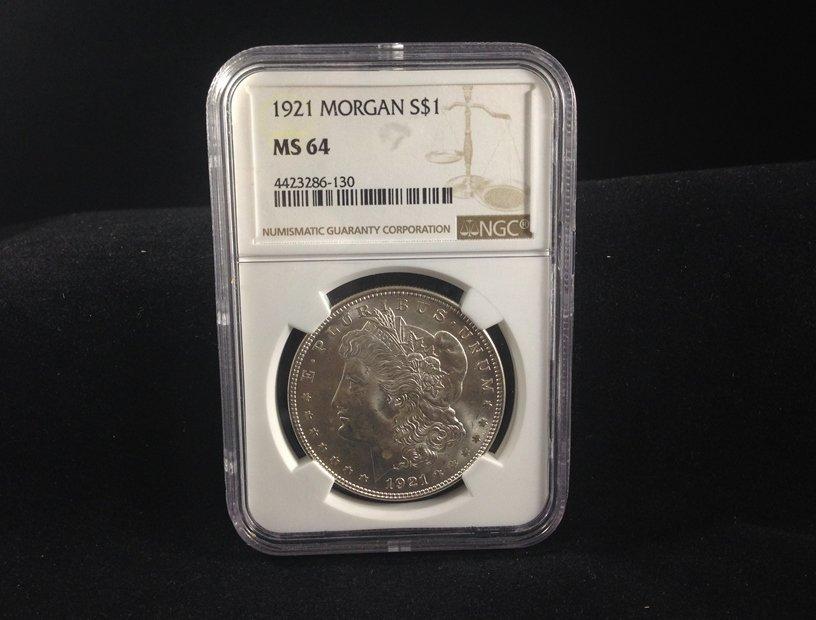 1921 Morgan Silver Dollar MS 64