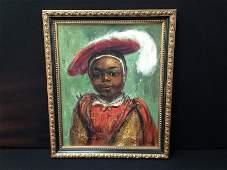 Herbert Fielder Signed Oil On Canvas Portrait