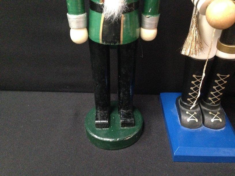 (2) Vintage Wood Soldier Nutcrackers. - 3