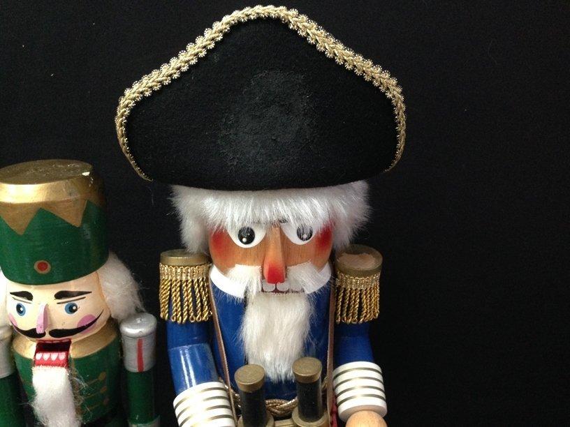 (2) Vintage Wood Soldier Nutcrackers. - 4