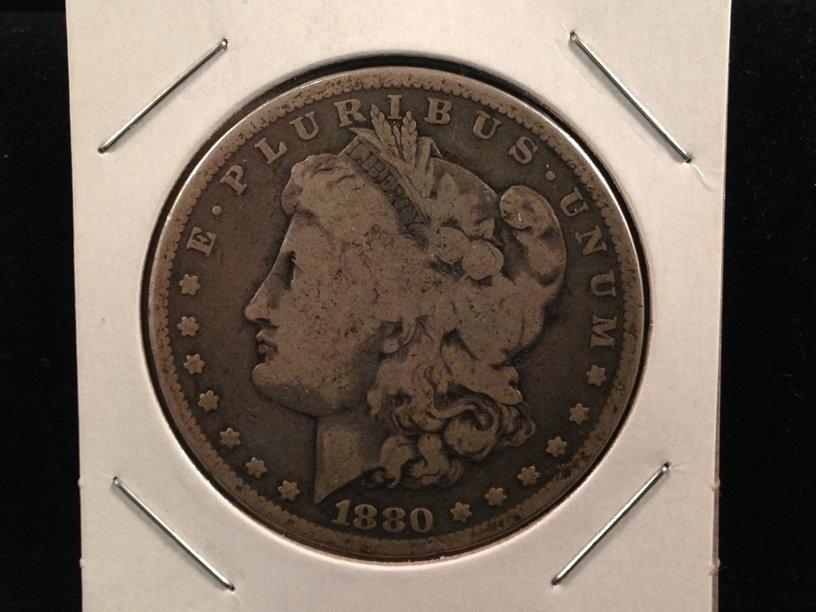 1880 Morgan Silver Dollar 90% Silver Coin