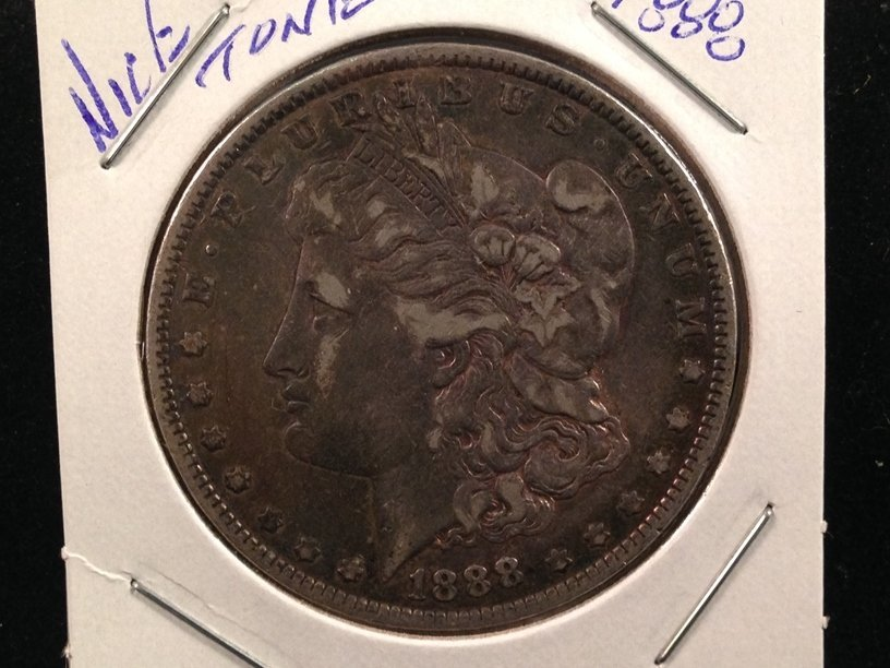 1888 Morgan Silver Dollar Nice Toning