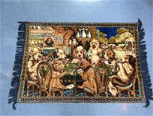 Vintage Dogs Playing Poker Tapestry.