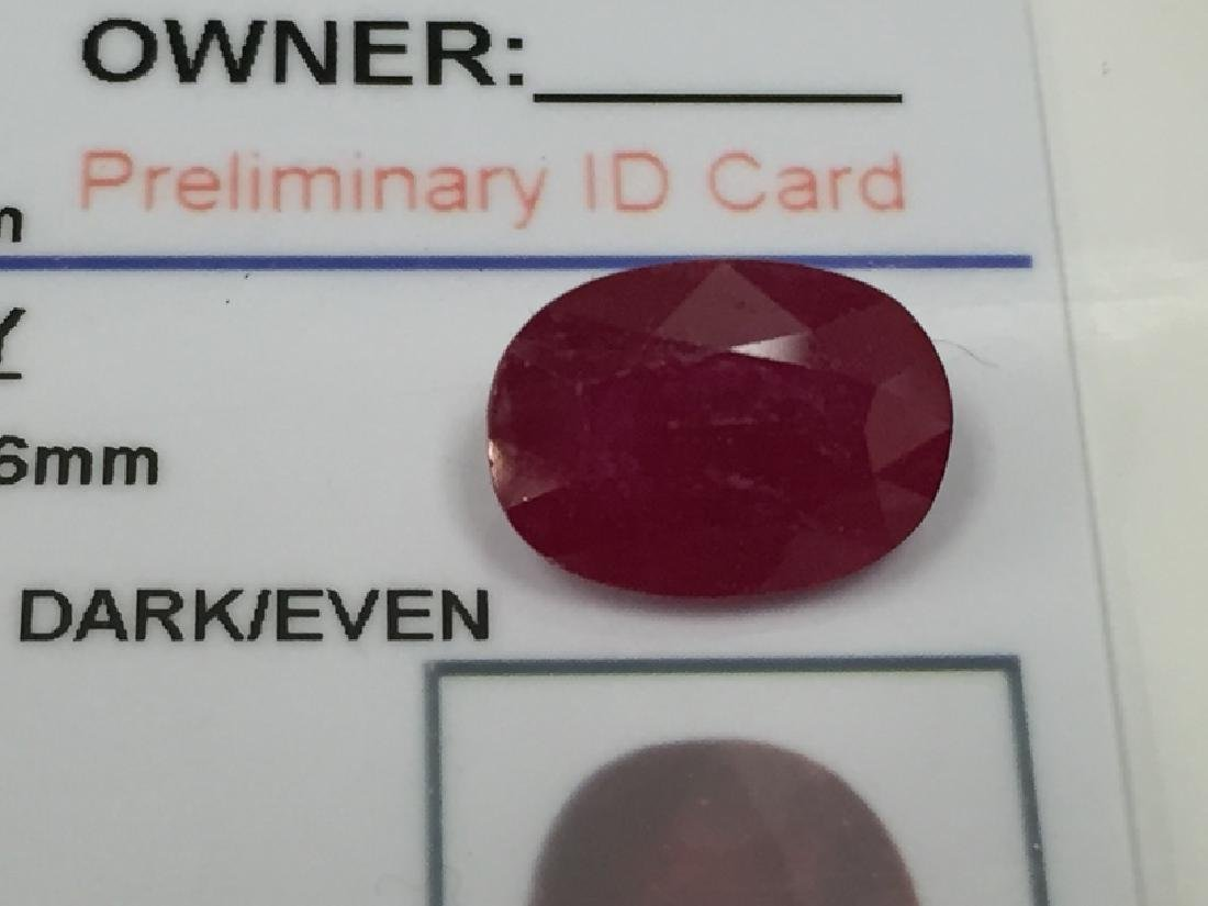 5.55 Carat Oval Cut Loose Gemstone GLA Appraised. - 2