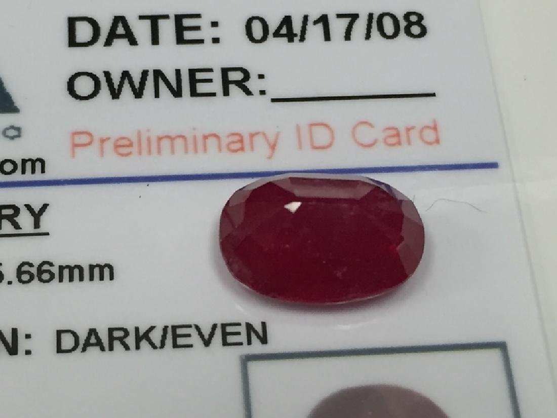 5.55 Carat Oval Cut Loose Gemstone GLA Appraised. - 3