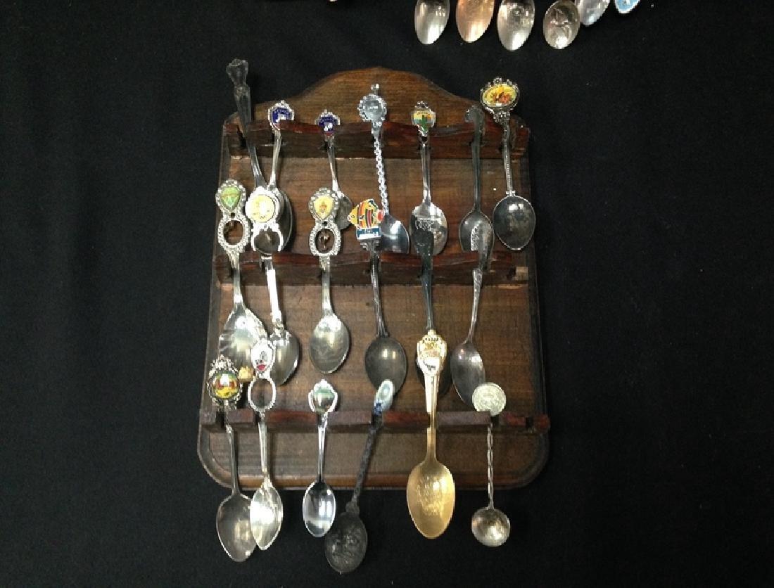 Lot (54) Souvenir Spoons On Display Plaques. - 2