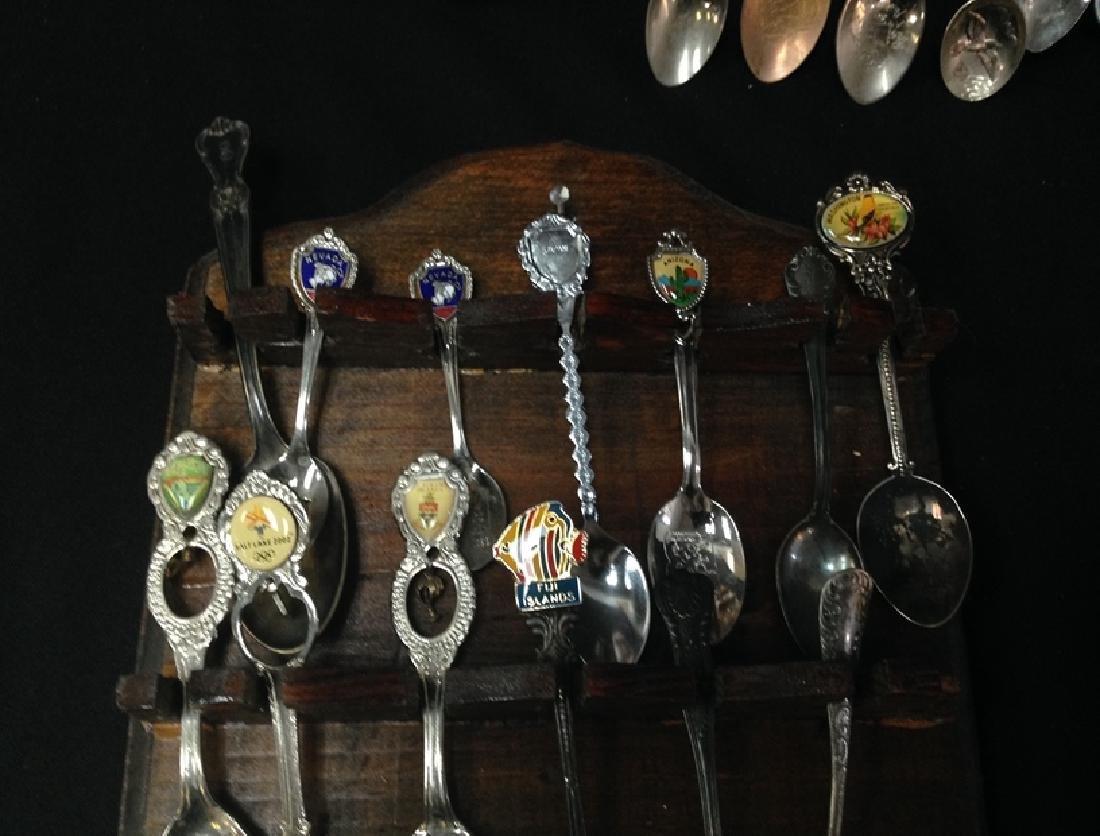 Lot (54) Souvenir Spoons On Display Plaques. - 3